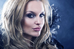 Mody stylowa fotografia gothic kobieta Obrazy Stock