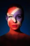 Mody sztuki portret elegancka naga młoda kobieta Obrazy Royalty Free