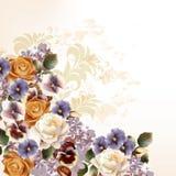 Mody tło z różami w retro stylu Obrazy Royalty Free
