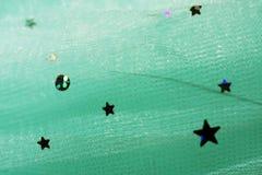 Mody tekstury tkanina z połysk gwiazdami Zdjęcie Stock
