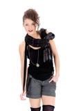 Mody uśmiechnięta kobieta Fotografia Stock