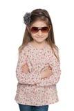 Mody urocza mała dziewczynka zdjęcia royalty free