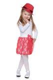 Mody urocza mała dziewczynka zdjęcie royalty free