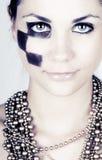 mody wysokiego makeup oszałamiająco nastolatek Obrazy Royalty Free