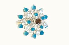 mody złocistego pierścionku kamienie Zdjęcia Royalty Free