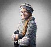 mody zima Obrazy Royalty Free