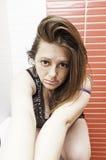 Mody zmysłowa kobieta Zdjęcie Royalty Free
