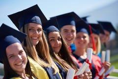 Młodych absolwentów uczni grupa Zdjęcia Royalty Free