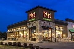 Moe ` s餐馆在晚上在纽约上州 免版税库存图片