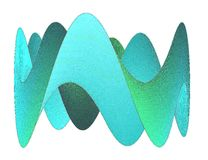Moebius. Cyan and blue moebius band twisted several times Royalty Free Stock Images