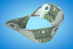 Moebius-Euro lizenzfreies stockbild