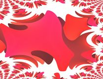 Moebius fractals. Red moebius decomposed in small fractal objects Stock Photography