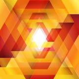 Moebius origami红色和橙色纸三角 免版税库存图片