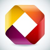 Moebius origami colorful paper rectangle on white Royalty Free Stock Photos