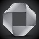 Moebius origami gray and white paper rectangle Royalty Free Stock Photo