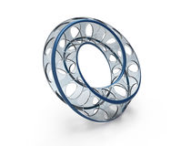Moebius ring shape Stock Images