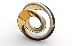 Moebius strip shape object Royalty Free Stock Image