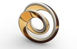 Moebius strip shape object Royalty Free Stock Image