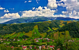 Moeciu, Roumanie Photo stock