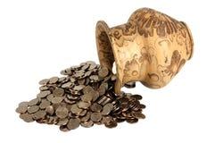A moeda Foto de Stock Royalty Free