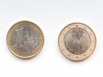 Moeda alemão do Euro Fotos de Stock