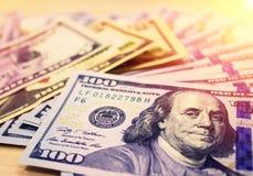 Moeda americana Dólares Fotografia de Stock