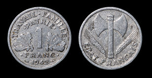 Moeda antiga de 1942 Imagens de Stock Royalty Free
