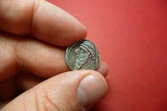 Moeda antiga de Mithridates II Foto de Stock Royalty Free