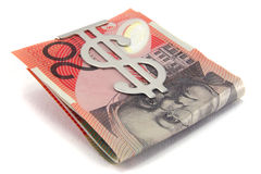 Moeda australiana. Imagem de Stock