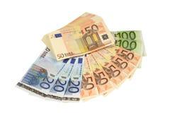 Moeda Barato-Dinheiro-Euro-europeia Foto de Stock Royalty Free
