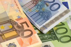Moeda Barato-Dinheiro-Euro-europeia Fotografia de Stock