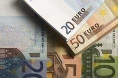 Moeda Barato-Dinheiro-Euro-europeia Foto de Stock
