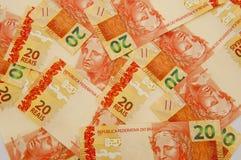 Moeda brasileira 20 Imagem de Stock Royalty Free