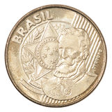 Moeda brasileira dos centavos Foto de Stock