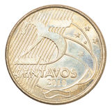 Moeda brasileira dos centavos Imagem de Stock Royalty Free