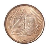 Moeda brasileira dos centavos Fotos de Stock