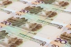 A moeda chinesa Imagens de Stock