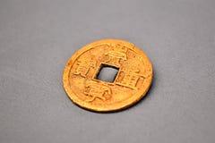 Moeda chinesa antiga Fotografia de Stock Royalty Free