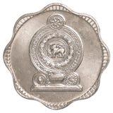 Moeda cingalesa de 10 centavos da rupia Foto de Stock Royalty Free