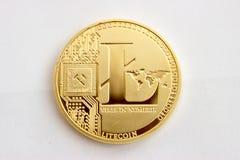 Moeda cripto em um fundo cinzento - litecoins 7 Fotos de Stock Royalty Free