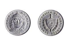 Moeda cubana de três pesos Imagens de Stock Royalty Free