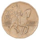 Moeda da coroa de vinte checos Foto de Stock