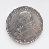 Moeda da lira do Vaticano Imagem de Stock Royalty Free