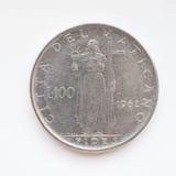 Moeda da lira do Vaticano Imagens de Stock Royalty Free