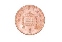 Moeda da moeda de um centavo Imagens de Stock
