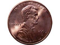 Moeda da moeda de um centavo Imagem de Stock Royalty Free