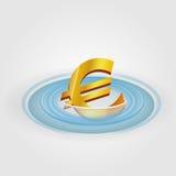 Moeda da ondinha do Euro Ilustração do Vetor