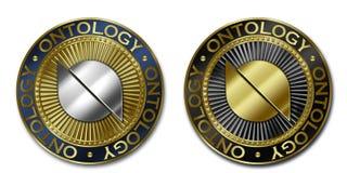 Moeda da ONTOLOGIA de Cryptocurrency Ilustração do Vetor
