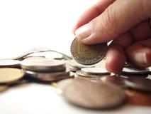 Moeda da tomada, dinheiro tailandês Imagens de Stock