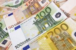Moeda da União Europeia Fotografia de Stock